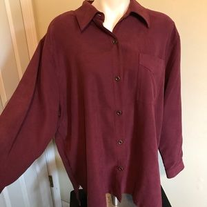 Alfred dunner 18w brown blouse